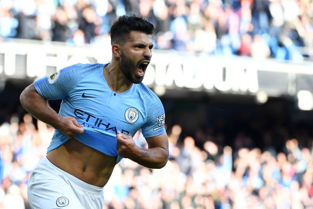 Penyerang Manchester City, Sergio Kun Aguero (AFP/Paul Ellis)