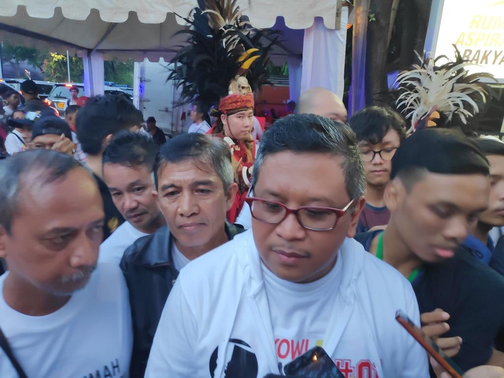 Sekretaris Tim Kampanye Nasional Koalisi Indonesia Kerja (TKN-KIK) Hasto Kristiyanto. Foto: Medcom.id/M Sholahadhin Azhar.
