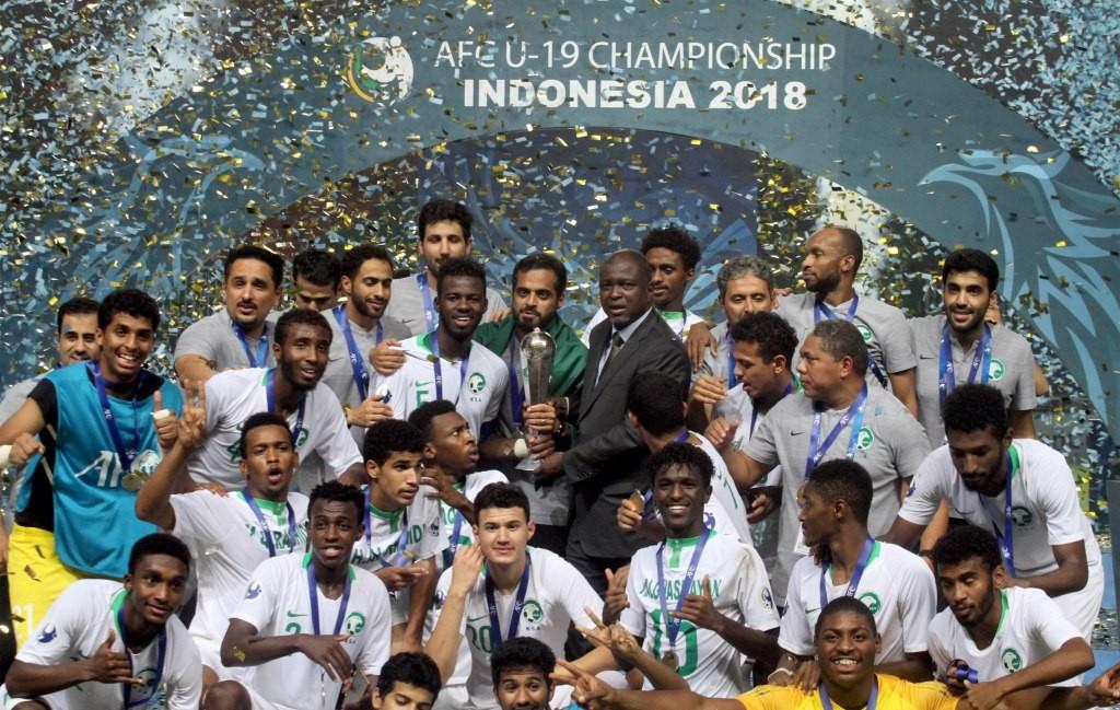 Timnas Arab Saudi U-19 sukses meraih gelar Piala Asia U-19 (Foto: Antara/Yulius Satria Wijaya)