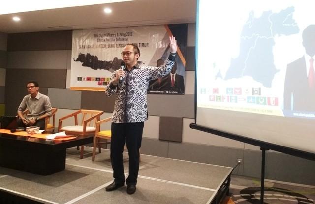 Direktur Charta Politika Indonesia Yunarto Wijaya. Foto: Medcom.id/Deny Irwanto.