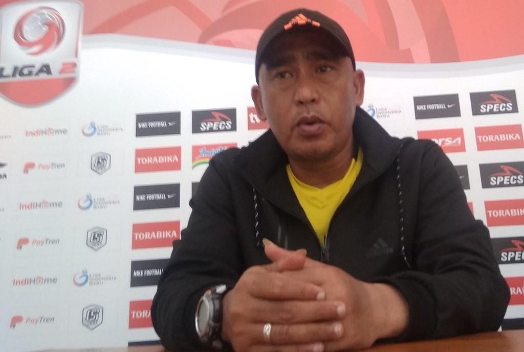 Pelatih Madura FC Salahudin. (Foto: medcom.id/Ahmad Mustaqim)