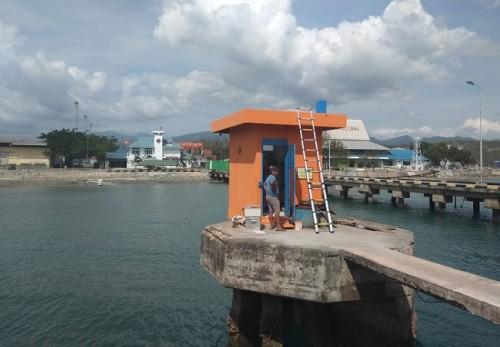 Stasiun Pasut BIG di Pelabuhan Pantoloan, Palu, Sulawesi Tengah.