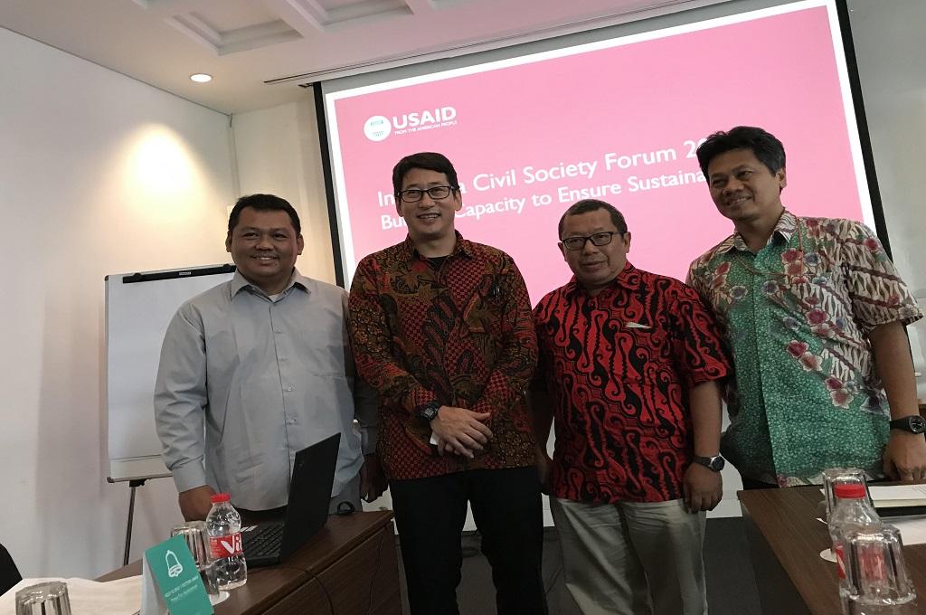 Konferensi pers Indonesia Civil Society Forum, di Jakarta, Senin 5 November 2018. (Foto: Fajar Nugraha)