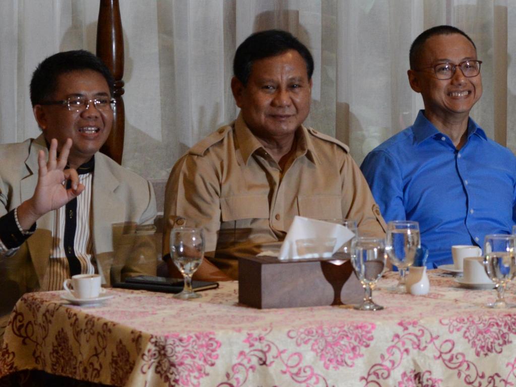 Ketua Umum Partai Gerindra Prabowo Subianto (kedua dari kiri). Foto: MI/Mohamad Irfan.