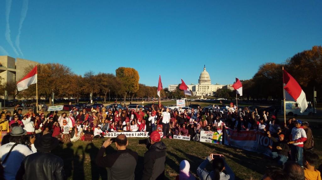 Komunitas Indonesia di Washington DC mendeklarasikan dukungan buat Jokwi-Ma'ruf - foto: istimewa.