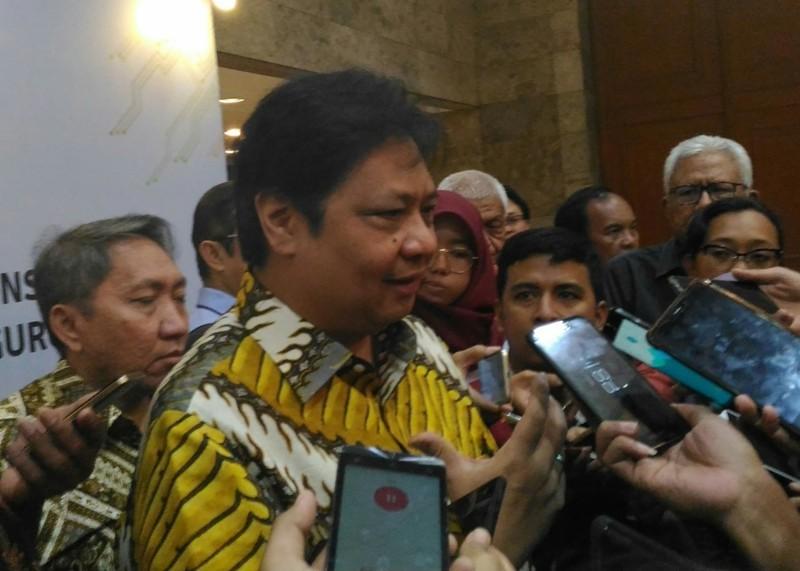 Menteri Perindustrian (Menperin) Airlangga Hartarto. Medcom/Ilham Wibowo.
