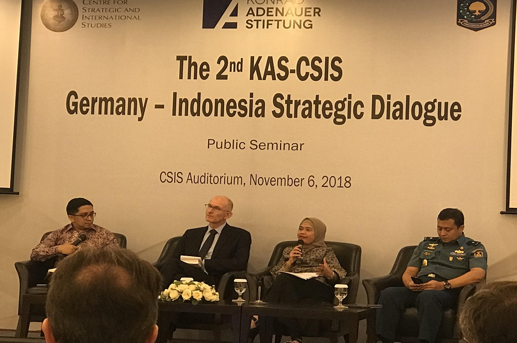 Seminar Germany-Indonesia Strategic Dialogue di CSIS, Jakarta, Senin 5 November 2018. (Foto: Fajar Nugraha)