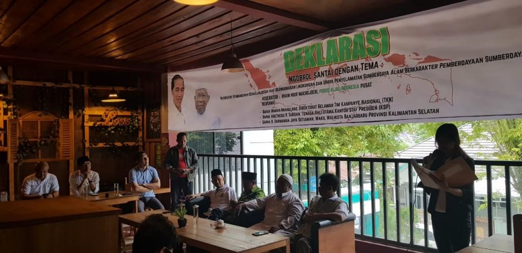 Deklarasi relawan Poros Hijau Nasional. Foto: Istimewa.