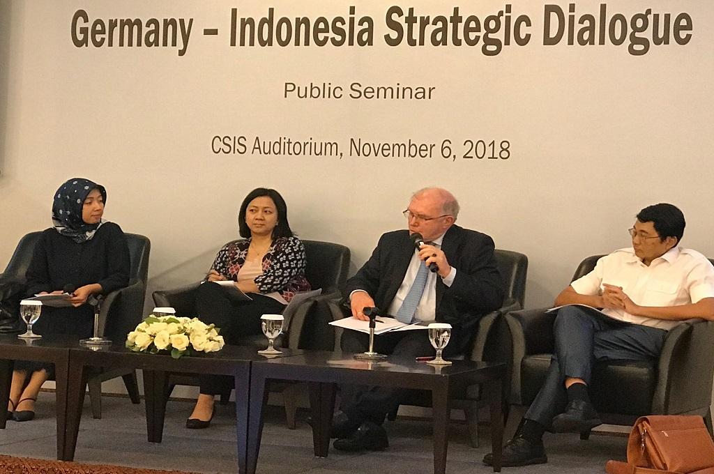 Seminar Germany-Indonesia Strategic Dialogue di CSIS, Jakarta, Selasa 6 November 2018. (Foto: Fajar Nugraha)