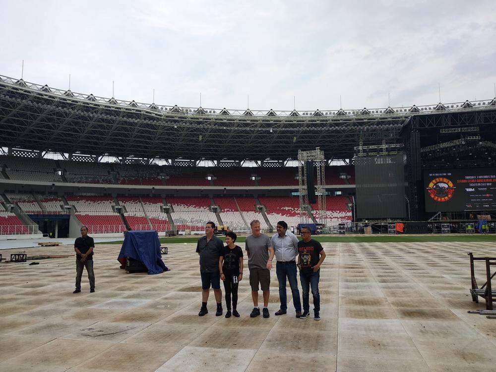 Jumpa pers jelang konser GNR di Gelora Bung Karno (Foto: Medcom/Shindu)