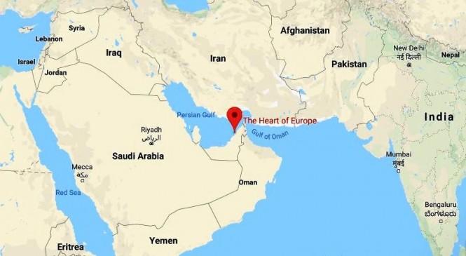 Heart of Europe adalah kompleks wisata mewah dan villa megah di atas lahan reklamasi di pesisir Dubai. (googlemap)