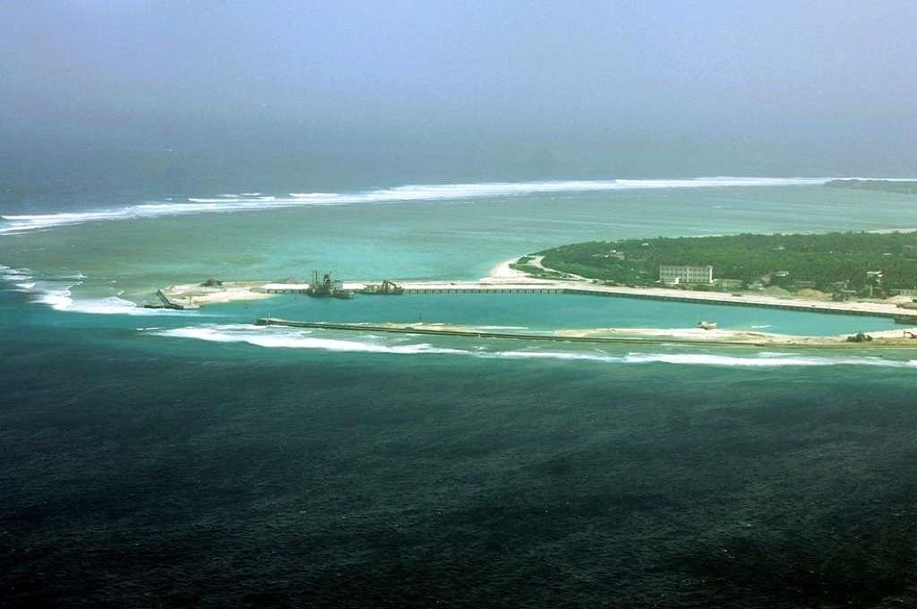 Salah satu pulau sengketa di Laut China Selatan. (Foto: AFP)