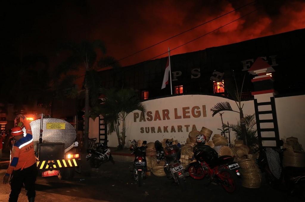 Kebakaran di Pasar Legi pada Senin, 29 Oktober 2018, MI - Widjajadi