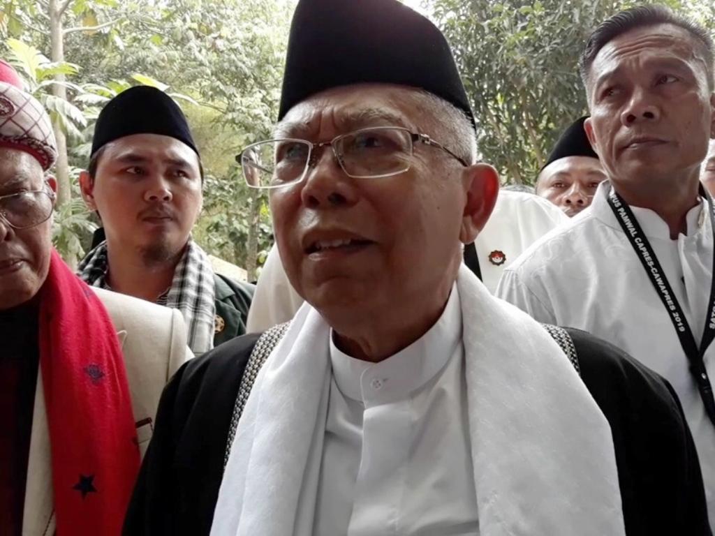 Ma'ruf Amin di Ponpes Jagat Arsy BSD, Tangerang Selatan, Sabtu, 13 Oktober 2018. Medcom.id/Farhan Dwitama