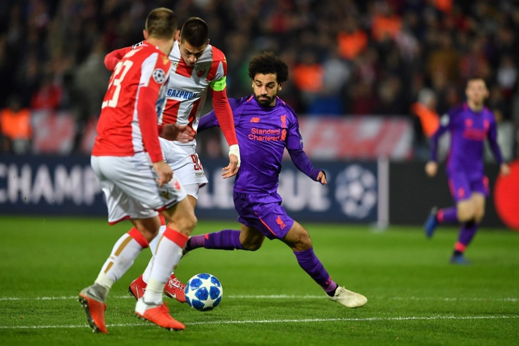 Red Star berhasil mengalahkan Liverpool dengan skor 2-0 (Foto UEFA)