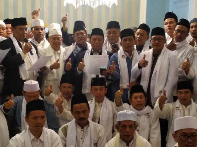 Ulama PCNU Jakpus mendeklarasikan dukungan untuk Jokowi-Ma'ruf/Medcom.id/Hasan