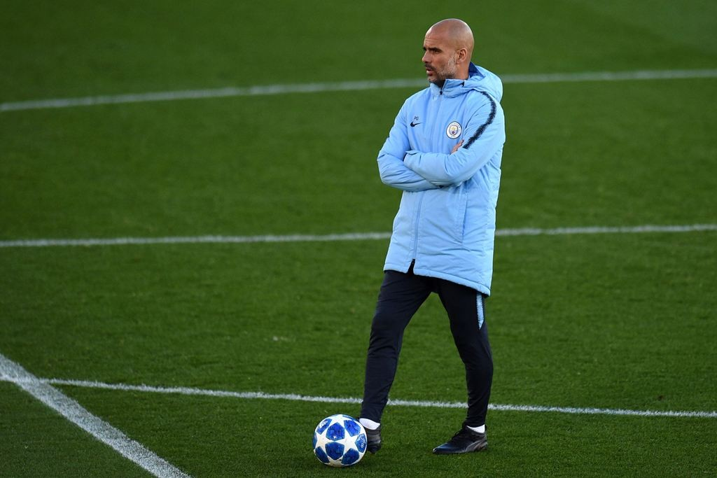 Pelatih Manchester City, Pep Guardiola (AFP/Oli Scarff)
