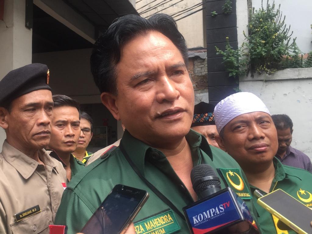 Ketua Umum Partai Bulan Bintang (PBB) Yusril Ihza Mahendra. Foto: Medcom.id/Intan Yunelia.