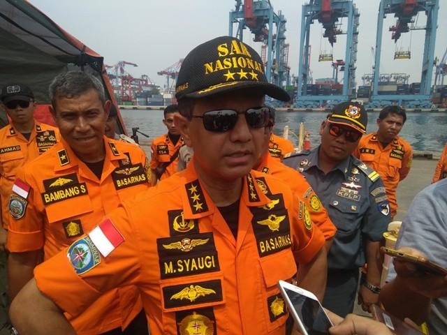 Kepala Badan Nasional Pencarian dan Pertolongan (Basarnas) Marsekal Madya TNI Muhammad Syaugi--Medcom.id/Kautsar Widya Prabowo.