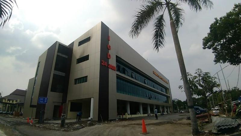 Gedung RS Bhayangkara Polda Jatim. (Medcom.id/Amal).