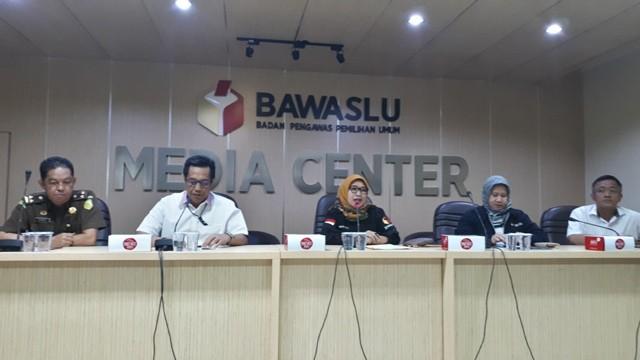 Suasana konferensi pers di Bawaslu Jakarta. Foto: Medcom.id/Faisal Abdalla.