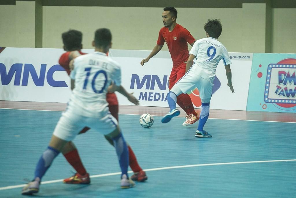 Salah satu pertandingan Timnas Fusal Indonesia di AFF Futsal 2018. (Foto: Antara/Hendra Nurdiyansyah)