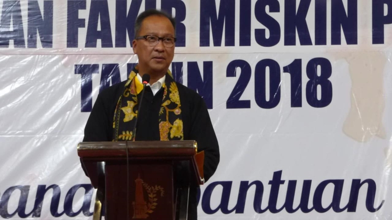 Menteri Sosial Agus Gumiwang saat evaluasi penyaluran bansos di Yogyakarta, Rabu, 7 November 2018. Medcom.id/Patricia Vicka