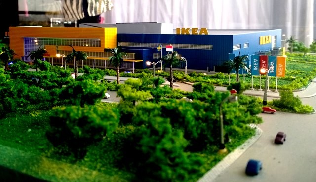 Maket toko baru IKEA di Indonesia. Perusahaan furnitur asal Finlandia itu menegaskan komitmen jangka panjangnya di Indonesia. medcom.id/Rizki