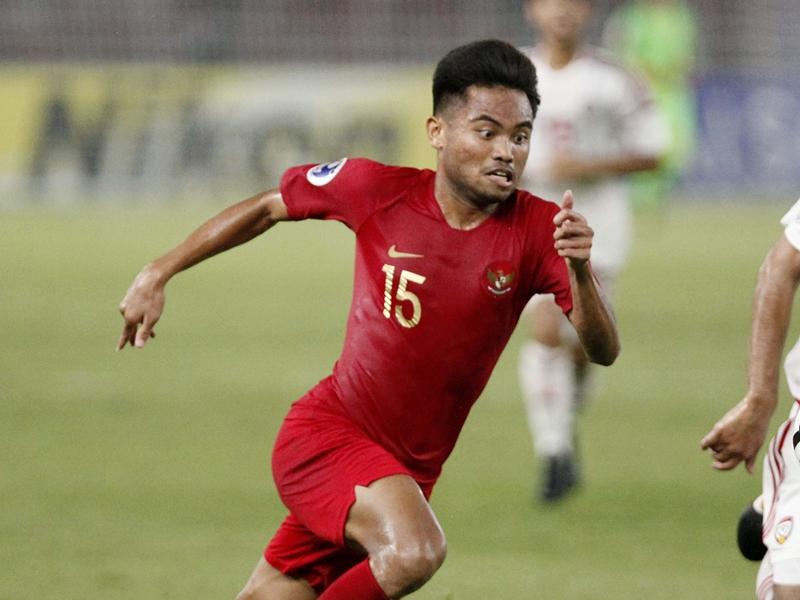 Pesepak bola Indonesia U-19 Saddil Ramdani. MI/Rommy Pujianto