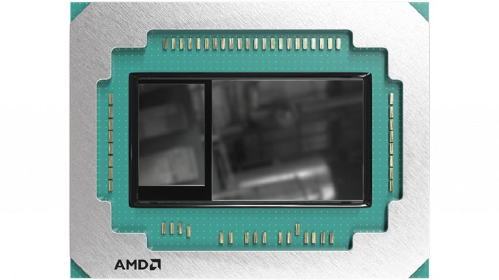 Kartu grafis diskrit AMD Radeon Vega.
