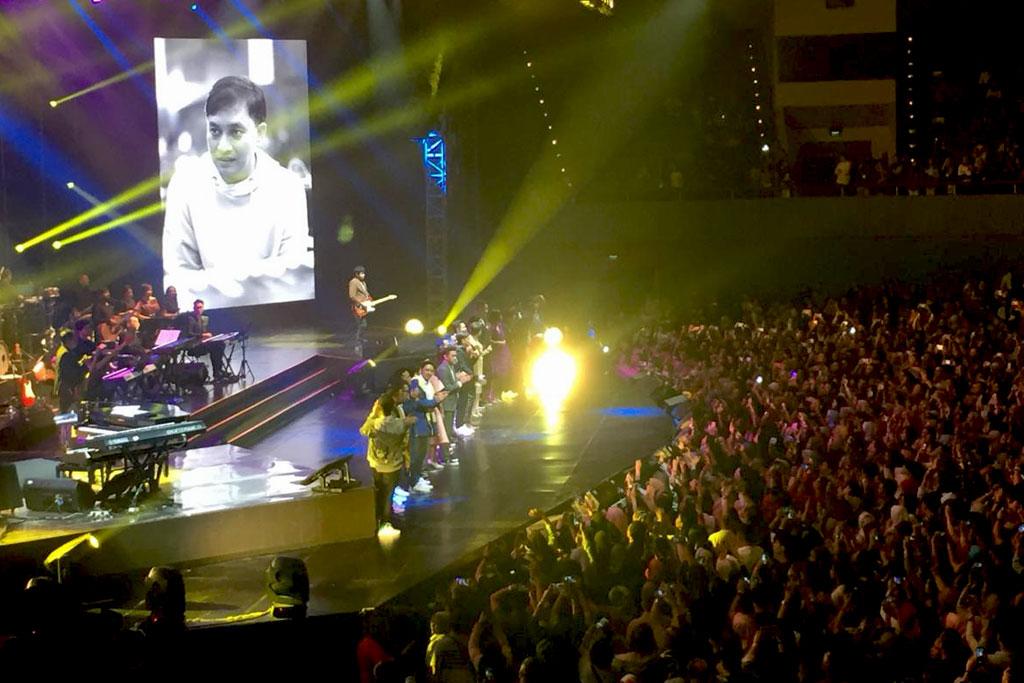 Konser Inspirasi Cinta Yovie digelar di JCC Senayan, Jakarta, Rabu, 7 November 2018.