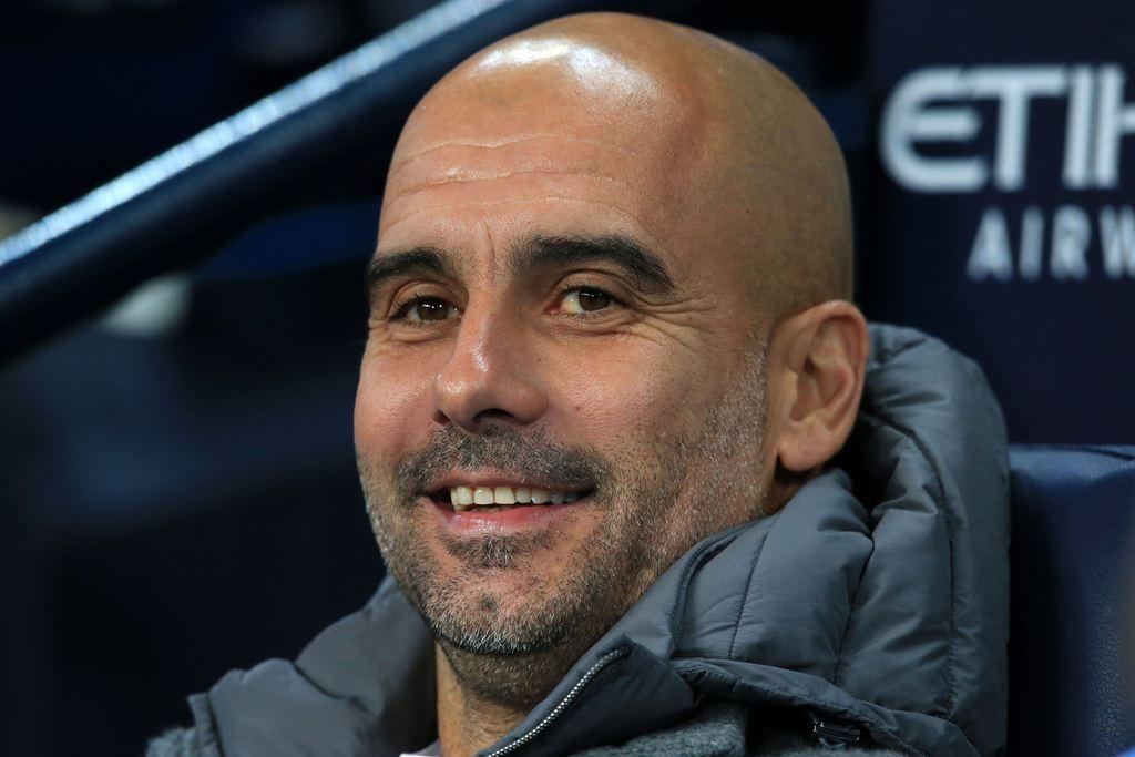 Pelatih Manchester City, Pep Guardiola (AFP/Lindsey Parnaby)