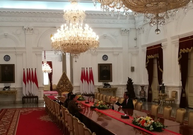 Eko Yuli bertemu Presiden Jokowi/Medcom.id/Yogi Bayu Aji