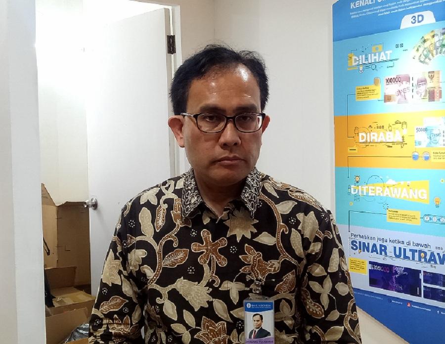 Direktur Dapartemen Komunikasi BI Arbonas Hutabarat di Gedung Samantha Krida, Universitas Brawijaya (UB), Malang, Jawa Timur, Kamis, 8 November 2018. Medcom.id/ Daviq Umar Al Faruq.