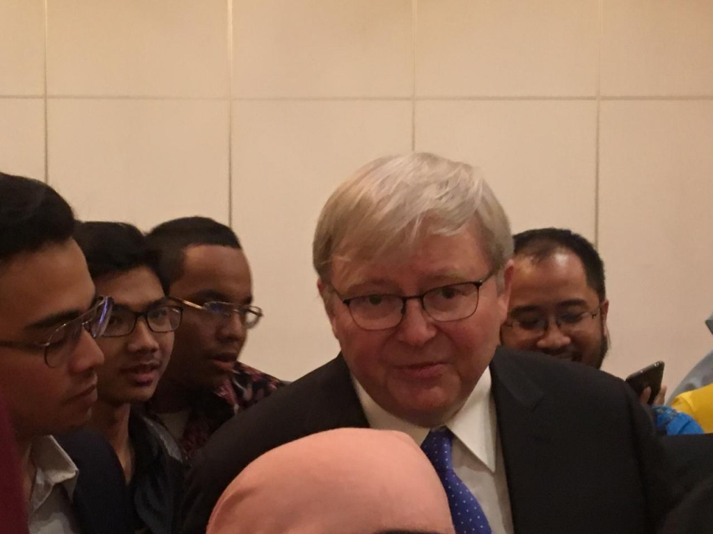 Mantan Perdana Menteri Australia Kevin Rudd (Foto:Medcom.id/Sonya)