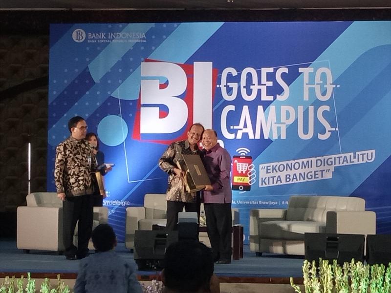 BI Goes to Campus 2018 di Gedung Samantha Krida, Universitas Brawijaya (UB), Malang, Jawa Timur, Kamis 8 November 2018.