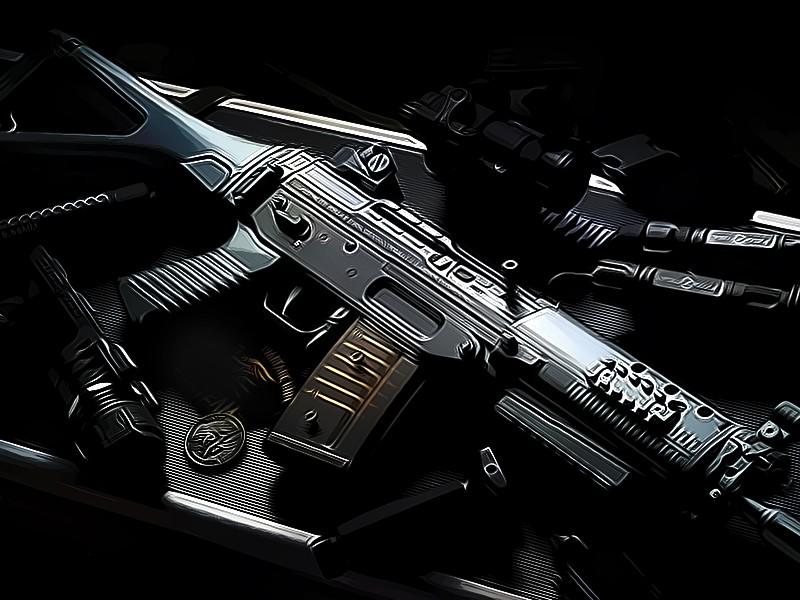 Ilustrasi senjata (Foto:Medcom.id/M Rizal)
