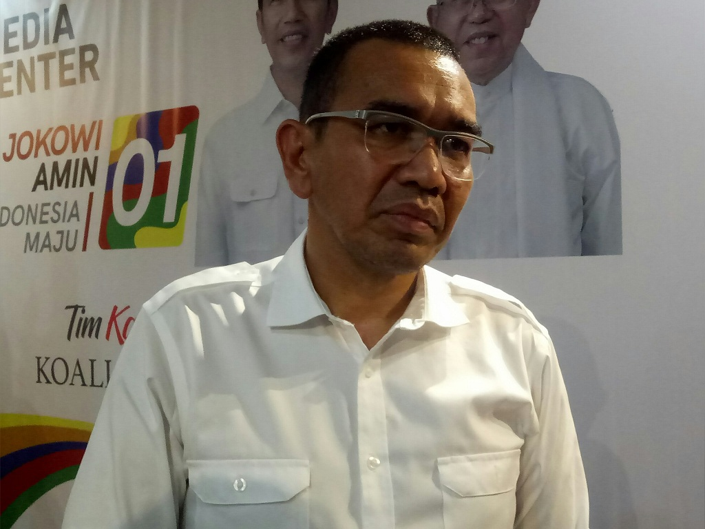 Juru Bicara Tim Kampanye Nasional (TKN) Joko Widodo-Ma'ruf Amin, Arya Sinulingga - Medcom.id/Arga Sumantri.