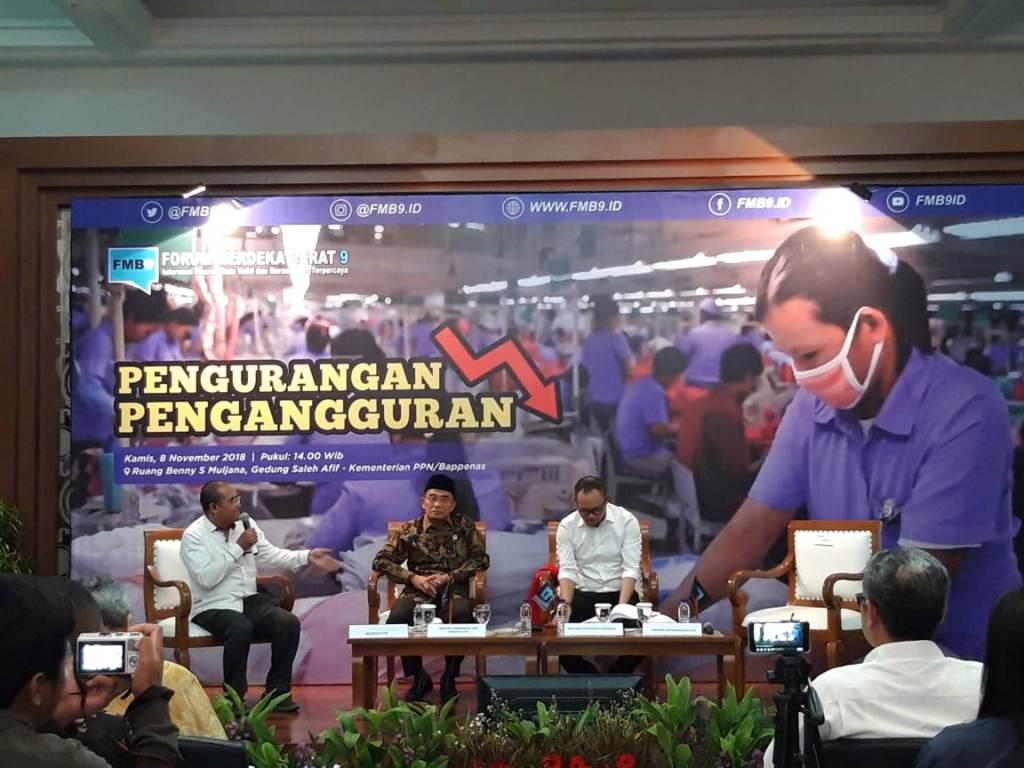Diskusi Forum Merdeka Barat (FMB) dengan tema 'Pengurangan Pengangguran' di Kantor Kementerian PPN, Medcom.id/Intan Yunelia.