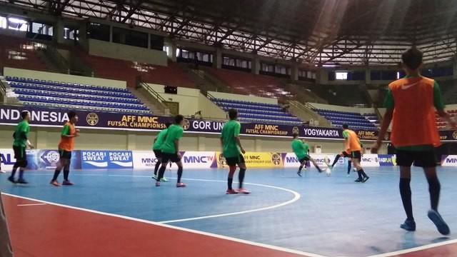 Skuat timnas futsal Indonesia berlatih-Medcom.id/Ahmad Mustaqim
