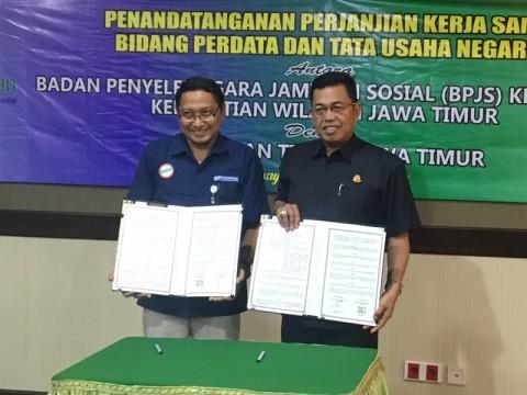 Deputi Direksi BPJS Kesehatan Kanwil Jatim, Handaryo, saat