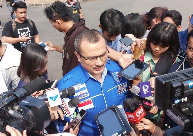 Ketua Divisi Advokasi dan Hukum Partai Demokrat Ferdinand Hutahaean. Foto: Medcom.id/Adin.