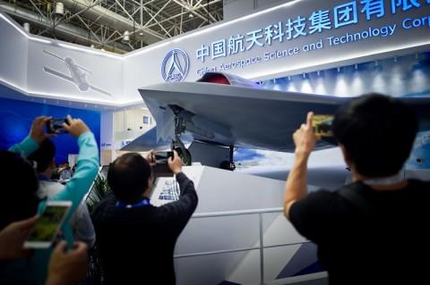 Drone CH-7 milik Tiongkok yang menarik perhatian. (Foto: AFP).