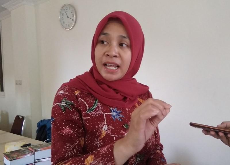 Koordinator Divisi Penindakan Pemilu Bawaslu DIY, Sri Rahayu Werdiningsih di kantor Bawaslu DIY, Jumat, 9 November 2018. Medcom.id/ Ahmad Mustaqim.