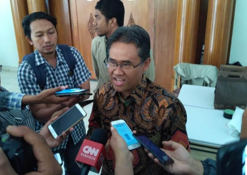 Rektor UGM Panut Mulyono di Fakultas Geografi UGM Yogyakarta, Jumat, 9 November 2018. Medcom.id/ Patricia Vicka.