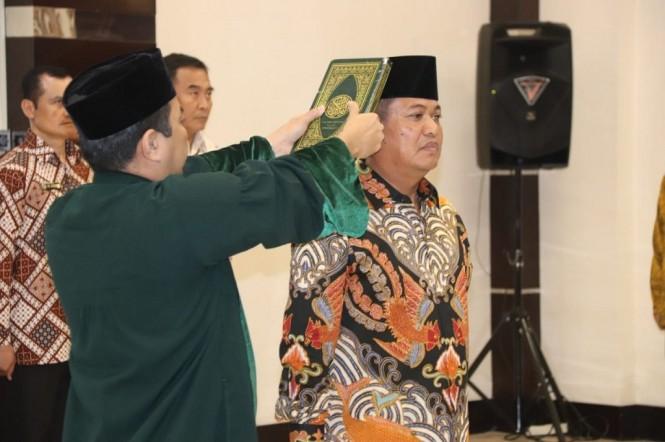 Laksamana Madya Achmad Taufiqoerrochman dilantik sebagai Kepala Badan Keamanan Laut (Bakamla) - Medcom.id/Dheri Agriesta.