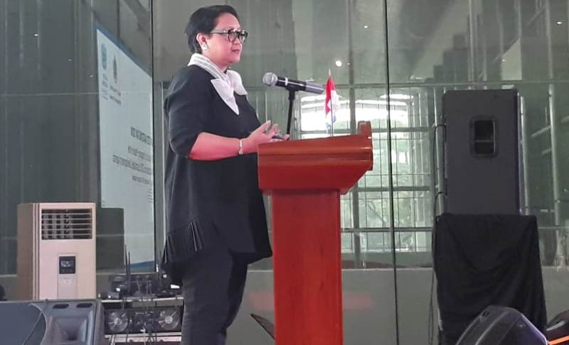 Menlu Retno Marsudi tegaskan Indonesia capai empat fokus SDGs. (Foto: Marcheilla Ariesta/Medcom.id).