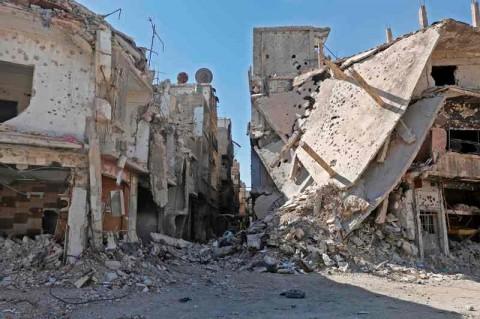 Kehancuran akibat krisis yang terjadi di Suriah. (Foto: AFP).