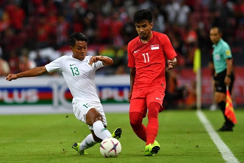 Indonesia vs Singapura (Foto: Antara/ SIGID KURNIAWAN)