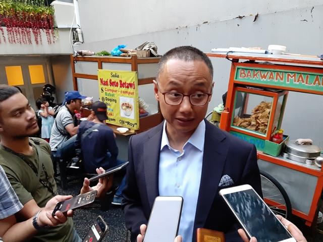 Sekretaris Jenderal PAN Eddy Soeparno di Media Center Prabowo-Sandi, Jalan Sriwijaya, Jakarta Selatan. Foto: Whisnu Mardiansyah/Medcom.id